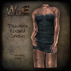 Tatiana Ruched Dress - Steel