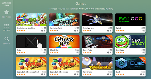 The Rainbow Machine Air Edition heads up the list of most popular Airspace games! | IKIGames