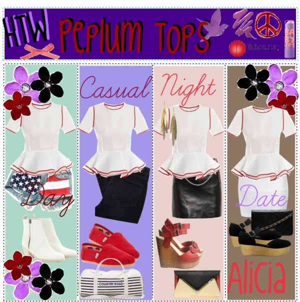 """How To Wear: Peplum Tops"" by girl-advice ❤ liked on Polyvore"