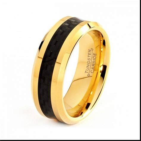 15 Ideas of Black And Gold Wedding Bands For Men