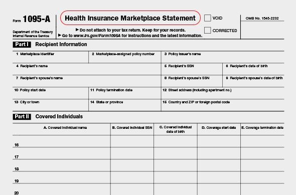 Form 1095-A   Community Tax