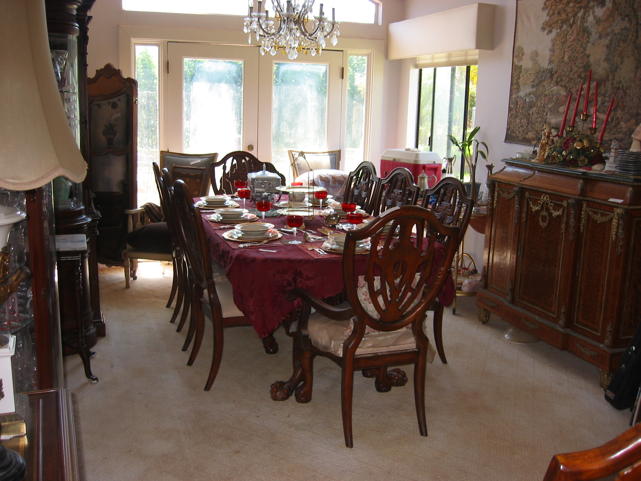 Neoclassical Solid Mahogany Dining Room Set For Sale ...