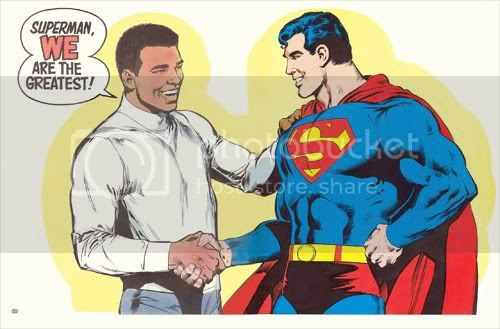 Superman y Muhammad Ali