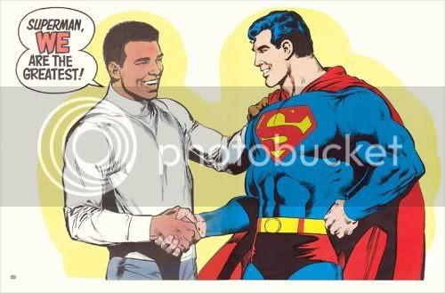 Superman y Muhammad Ali