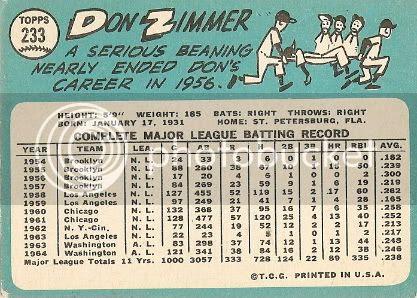 #233 Don Zimmer (back)
