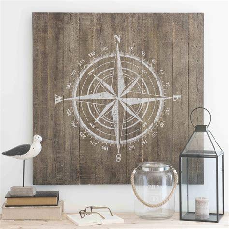 wanddekoration aus holz    cm kompass maisons du monde