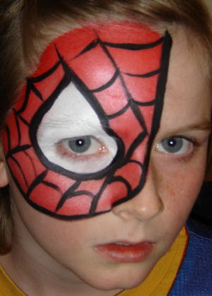 Spiderman Yuz Boyama