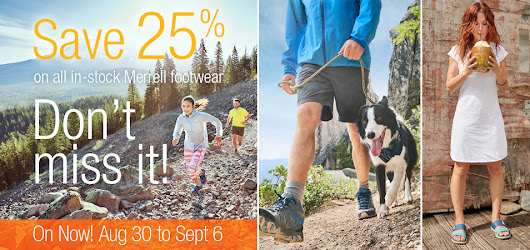 Merrell Footwear Sale - Adventure Guide
