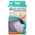 Oppo Silicone Gel Heel Pads With Removable Pads, Size :Large - 1 Pair