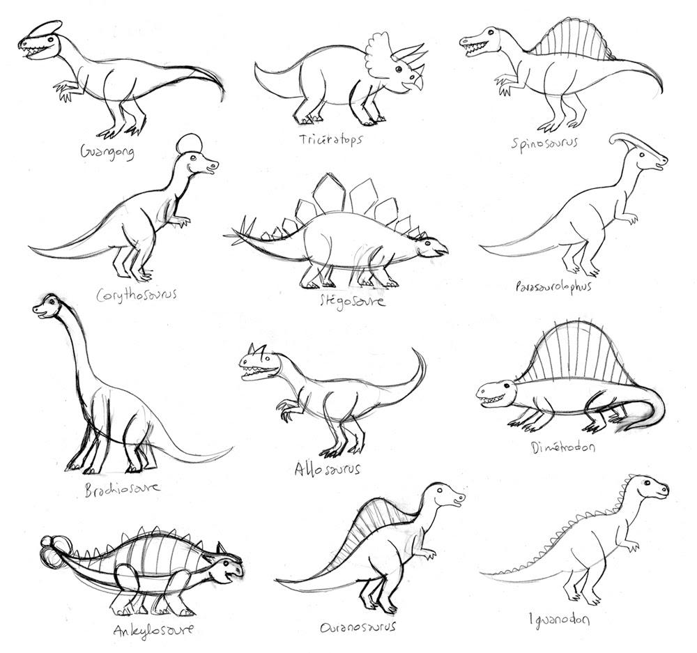 Coloriage  imprimer Animaux Dinosaures numéro