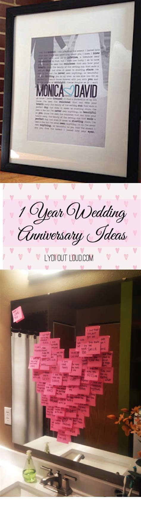 1 Year Anniversary Gift Ideas   Lydi Out Loud