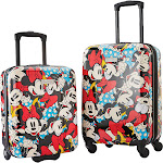 """American Tourister 2PC 18"""" and 20"""" Mickey Spinner Set - Minnie - Luggage Sets"""