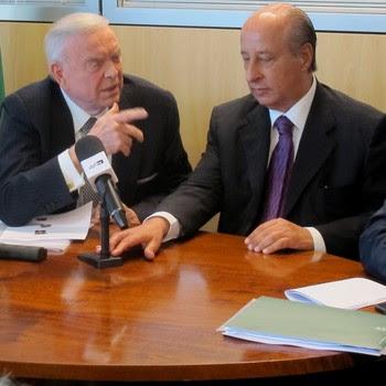 Marin, Del Nero e Kalil reunião CBF (Foto: Thales Soares)