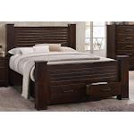 Transitional Mahogany Finish Storage Queen Bed Panang-23370Q Acme
