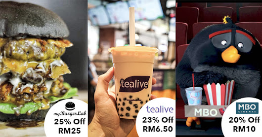 DOWNLOAD NOW: Get RM8 Free Credits & Up To 60% Off Your Favourite Restaurants & Movies!