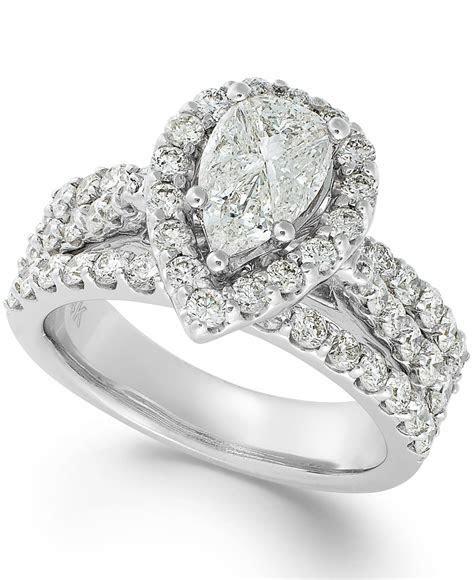 Lyst   Macy'S Diamond Engagement Ring In 14k White Gold (2