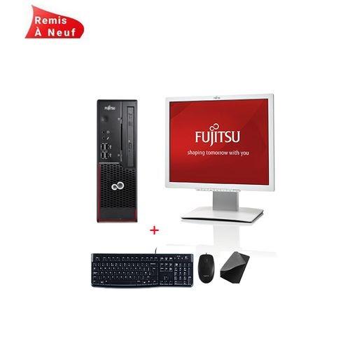 "Fujitsu Siemens Pc Complet Esprimo C720 Core i3-4130 3,4 GHz - HDD 500 Go - RAM 4 Go Avec Ecran Fujitsu 19"" - Remis à Neuf"