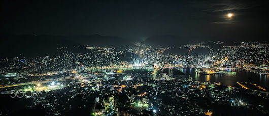 Nagasaki in the night