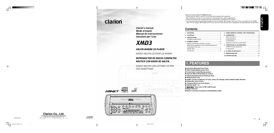 Clarion Xmd3 Wiring Diagram