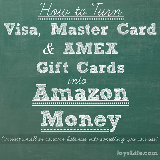 How to turn an AMEX, MC or Visa Gift Card into Amazon Money!