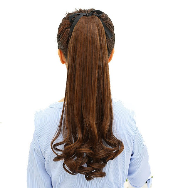 Sale-DIFEI Curly Style Pony Tail Hairpiece hairstyles Women Long Curly Synthetic Ponytail Clip in Hair Extensions  Best Price