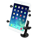 """RAM Universal X-Grip Cradle for 7"""" Tablets with Flat Surface Mount Kit by PilotMall.com"""