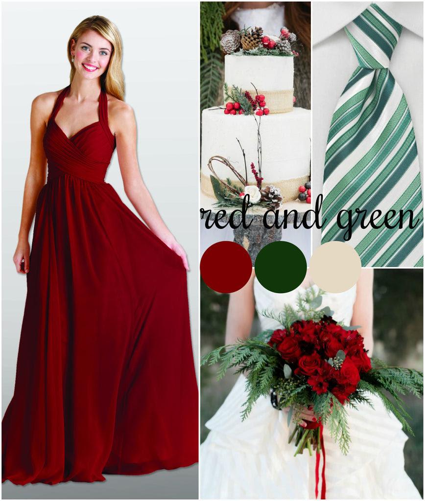 christmasthemed wedding color palettes