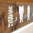 How cute is this? A stained wood coat hanger with animal bums and hooks as tails. | Wood Gifts | Pinterest | Hooks, Hangers and Animal