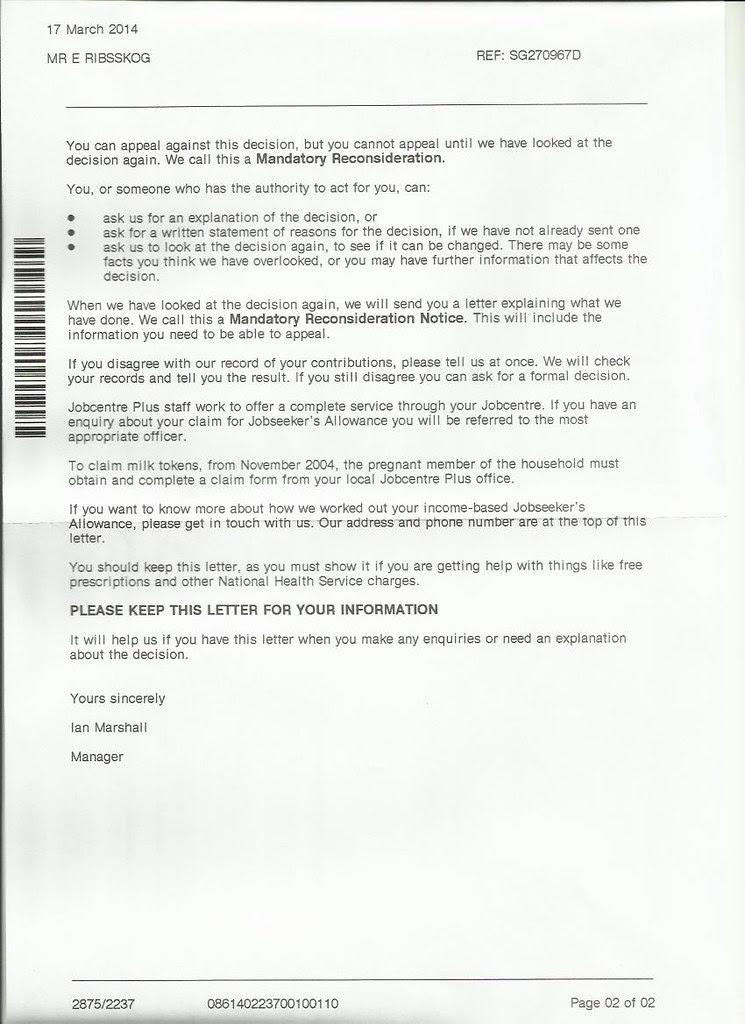 brev jobcentre 2