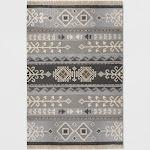 7'X10' Geometric Woven Area Rug Gray - Threshold , Size: 7'X10'