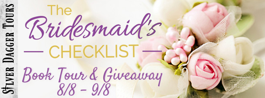 Book Tour Banner for The Bridesmaid's Checklist Contemporary Romance series by K.T. Castle with a Book Tour Giveaway