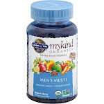 Garden of Life MyKind Organics Men's Multi, Whole Food, Vegan Gummy Drops, Organic Berry - 120 gummy drops