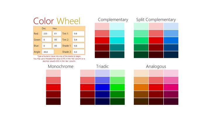 Color Wheel: A Color Scheme Generator app for Windows in the Windows Store