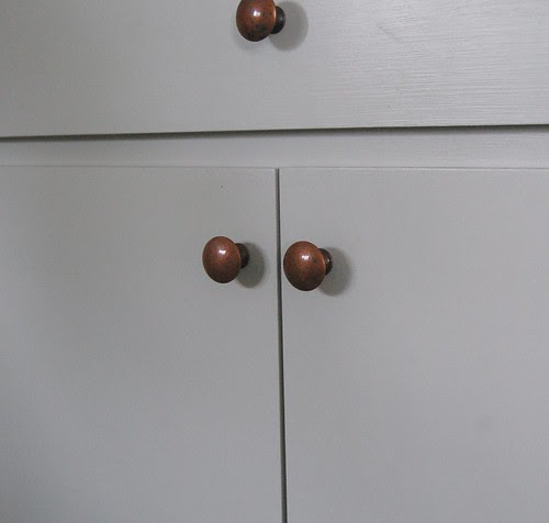 vintage copper knobs