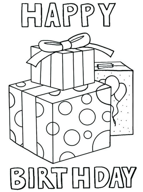 Birthday Card Coloring Page at GetDrawings | Free download