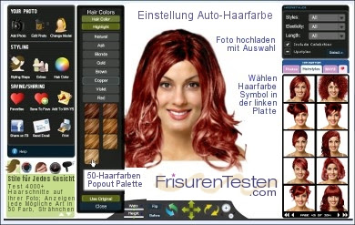 Frisuren Testencom Laden Sie Ihr Foto Virtuelle Frisuren