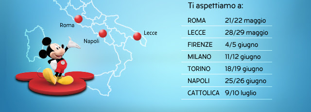 ti aspettiamo a: Roma 21/22 maggio - Lecce 28/29 maggio - Firenze 4/5 giugno - Milano 11/12 giugno - Torino 18/19 giugno - Napoli 25/26 giugno - Cattolica 9/10 luglio