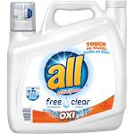All Ultra Free Clear Oxi Laundry Detergent - 141 fl oz jug