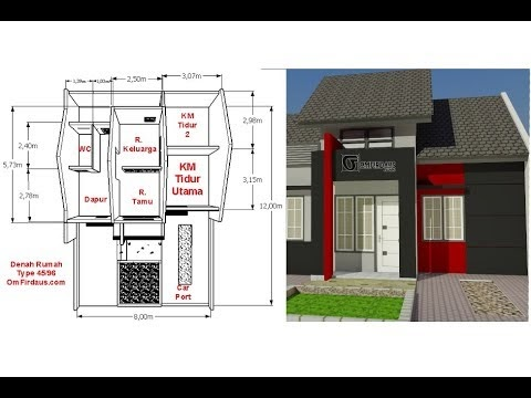 inspirasi desain rumah minimalis type 45 hook, video