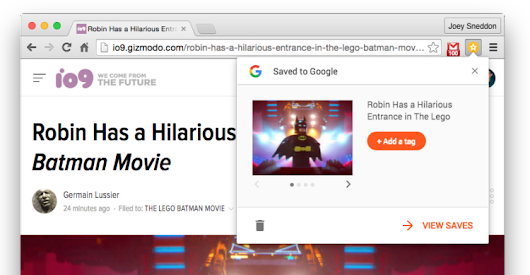 Official 'Save to Google' Chrome Extension Now Available