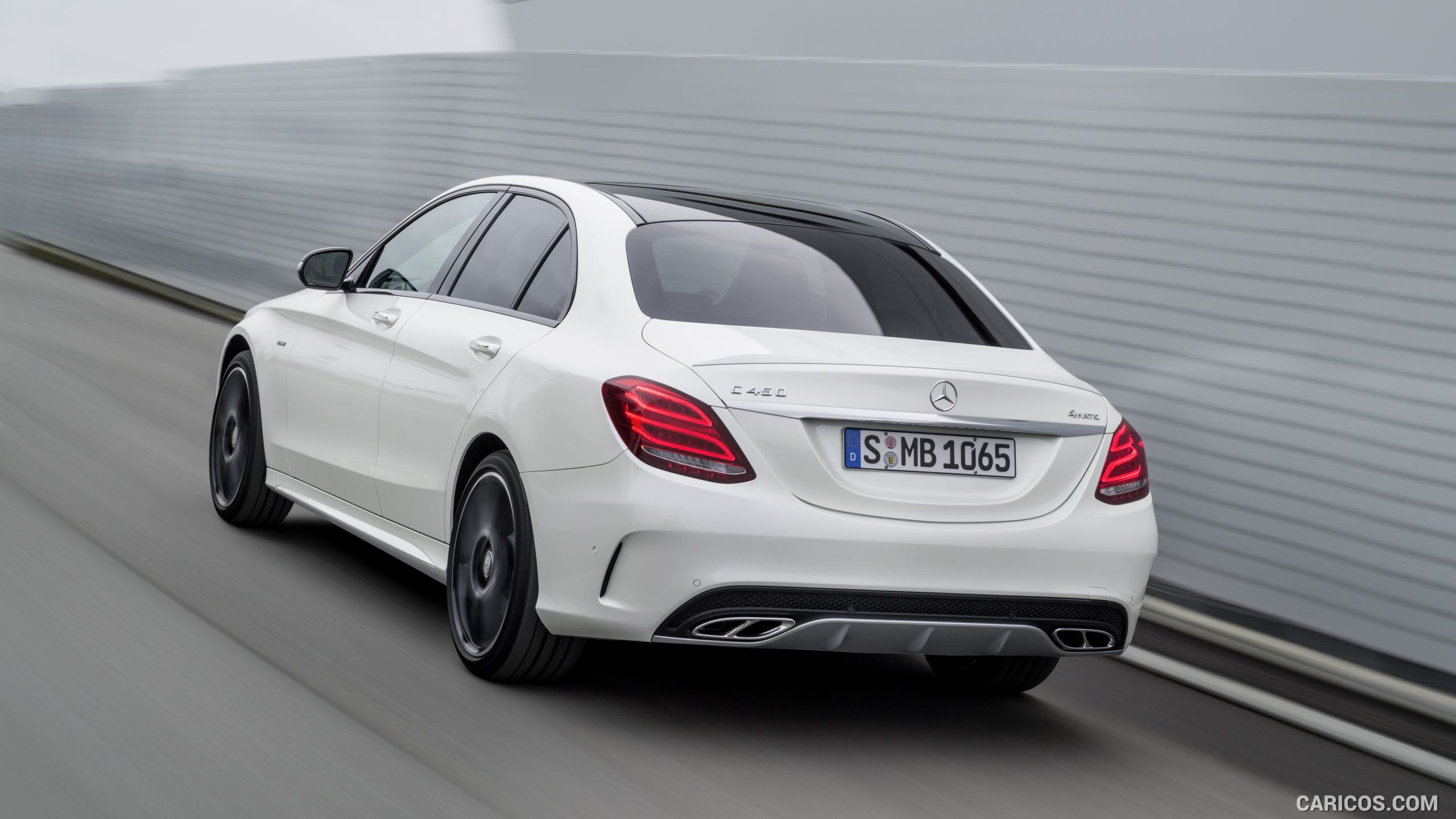 2016 Mercedes-Benz C450 AMG 4MATIC (Diamond White) - Rear ...