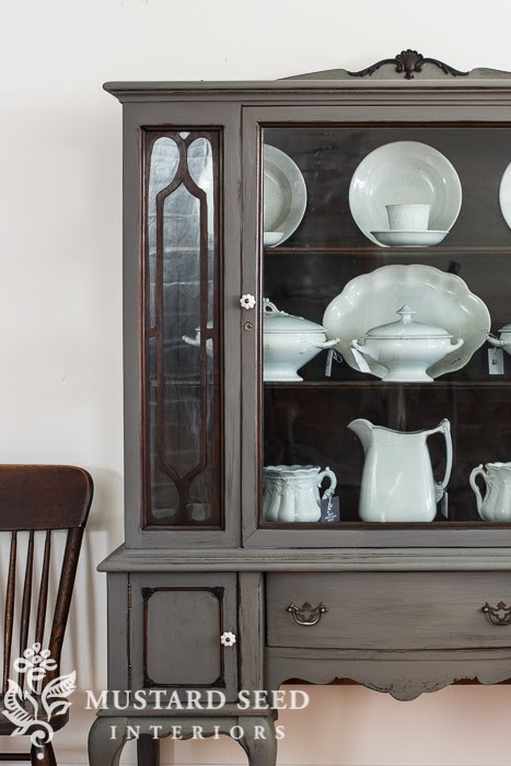 Painted China Cabinet from Miss Mustard Seed | Friday Favorites at www.andersonandgrant.com
