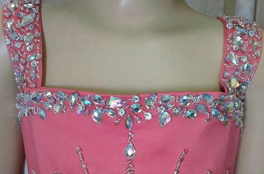 Girls open back Pageant dress.