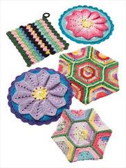 Scrap Pot Holders to Crochet