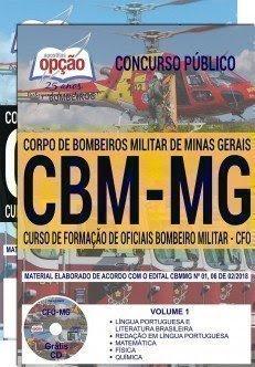 Apostila Concurso CBM MG 2018 | CURSO DE FORMAÇÃO DE OFICIAIS (CFO)