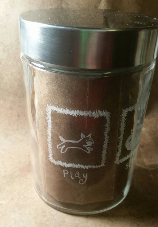 Treat Jar Engraved Glass Play Sleep Treat For Dog by ShopMetamora