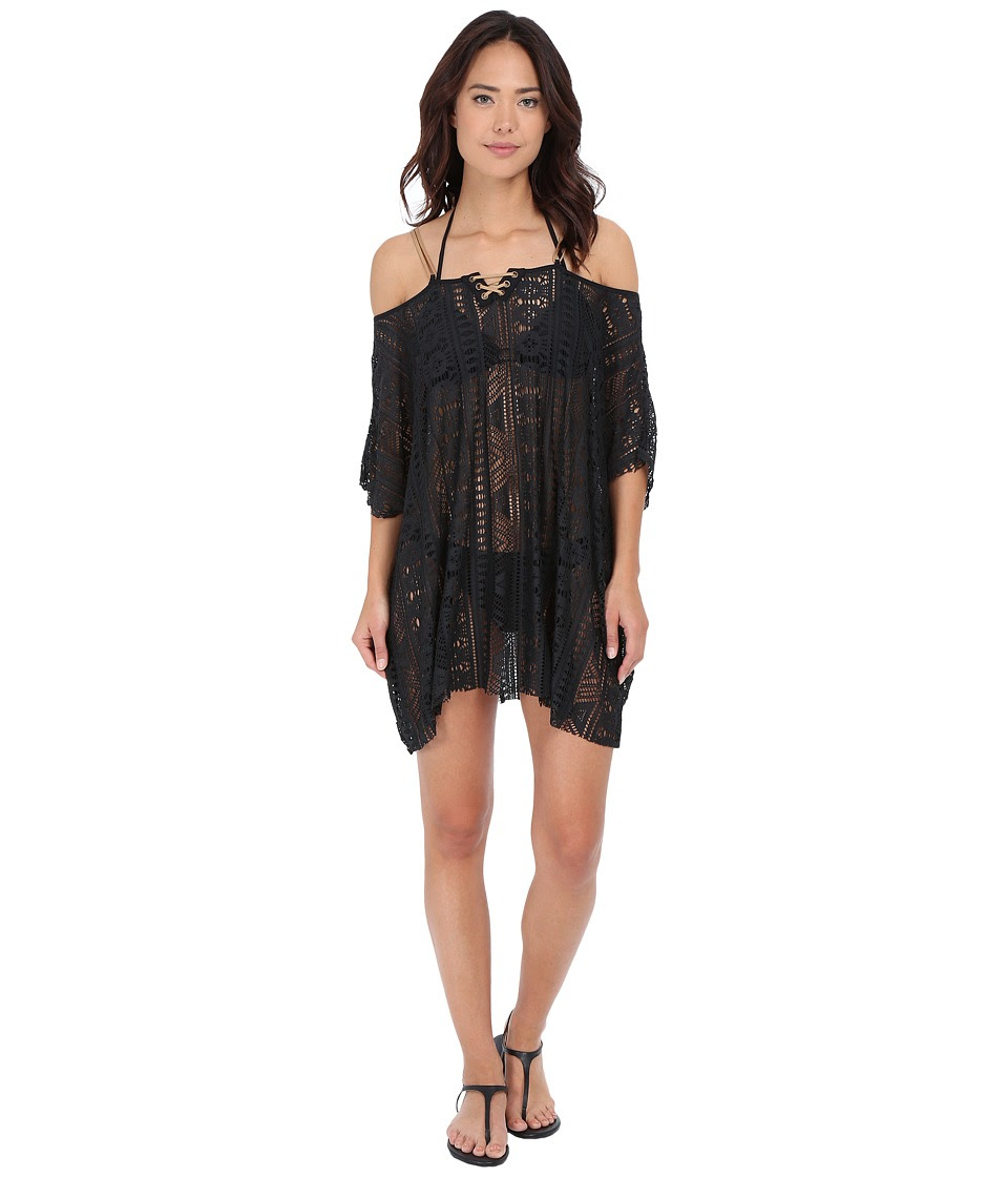 BECCA by Rebecca Virtue - La Boheme Tunic Cover-Up (Black) Women's Swimwear