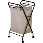 Household Essentials Rolling Laundry Hamper Bronze