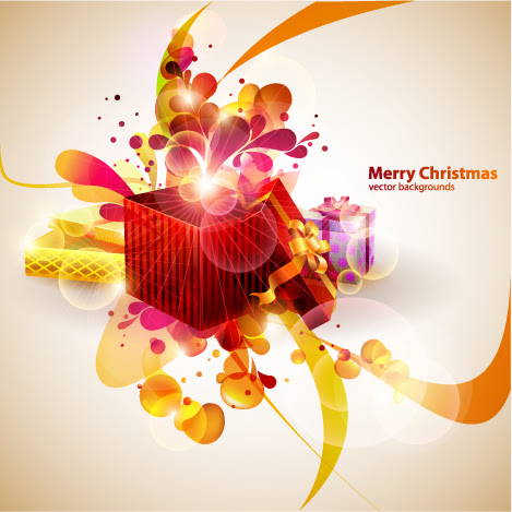 Vector colorful christmas gift Free Vector / 4Vector