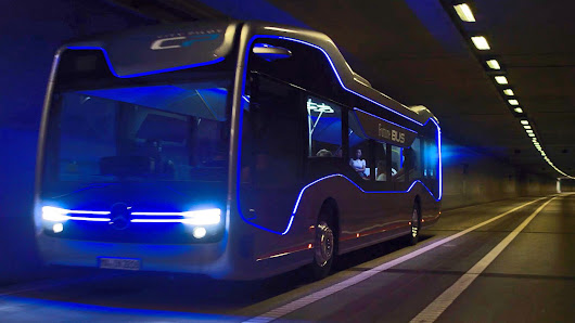 The Bus of the Future from Mercedes-Benz #science #innovation #technology